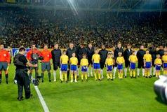 Squadra di football americano inglese Immagini Stock