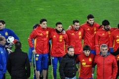 Squadra di football americano nazionale di Spagna durante la sessione di foto Fotografia Stock Libera da Diritti