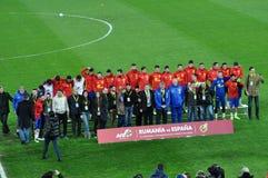 Squadra di football americano nazionale di Spagna durante la sessione di foto Immagine Stock