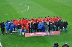Squadra di football americano nazionale di Spagna durante la sessione di foto Immagine Stock Libera da Diritti