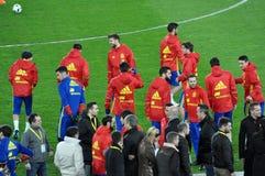 Squadra di football americano nazionale di Spagna durante la sessione di foto Fotografia Stock