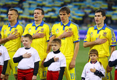 Squadra di football americano nazionale di Ucraina Fotografia Stock