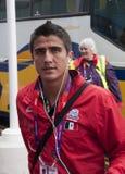 Squadra di football americano olimpica di Dárvin Ramirez Messico Fotografia Stock