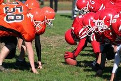 Squadra di football americano per fare un'escursione sfera Fotografia Stock