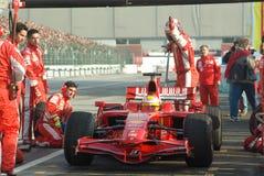 Squadra di Formula 1 del Ferrari Fotografia Stock