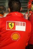 Squadra di Formula 1 del Ferrari immagine stock libera da diritti