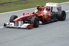 Squadra di Formula 1 del Ferrari: Felipe Massa Fotografia Stock