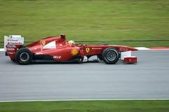 Squadra di Formula 1 del Ferrari: Fernando Alonso Immagine Stock