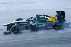 Squadra di Formula 1 del loto: Davide Valsecchi Immagini Stock Libere da Diritti