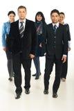 Squadra di gente di affari camminare Fotografia Stock Libera da Diritti