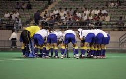 Squadra di hockey Fotografia Stock