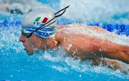 Squadra di nuoto italiana Immagine Stock