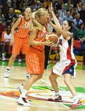 Squadra di pallacanestro delle donne S.U.A. Fotografia Stock Libera da Diritti