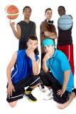 Squadra di pallacanestro interrazziale Fotografia Stock