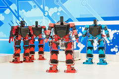 Squadra di robot Fotografie Stock