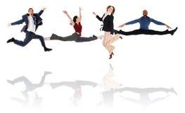 Squadra di salto Fotografie Stock