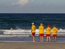 Squadra di salvataggio della spiaggia su Gold Coast Fotografia Stock Libera da Diritti