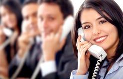 Squadra di servizio di assistenza al cliente Immagini Stock