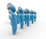 Squadra di servizio di assistenza al cliente royalty illustrazione gratis
