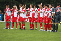 Squadra di Slavia Praga Immagini Stock Libere da Diritti