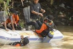SQUADRA DI SOCCORSO DELL'INDONESIA Fotografia Stock