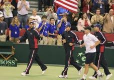 Squadra di tennis della tazza degli Stati Uniti Davis Fotografia Stock Libera da Diritti