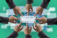 Squadra di verifica di valutazione delle prestazioni immagini stock libere da diritti