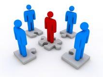 Squadra e puzzle di affari Immagini Stock Libere da Diritti