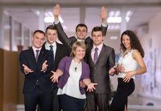 Squadra felice di affari Fotografie Stock