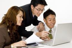 Squadra felice di affari Immagine Stock
