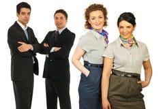 Squadra felice di gente di affari Immagini Stock Libere da Diritti