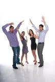 Squadra felice di vincitori fotografia stock libera da diritti