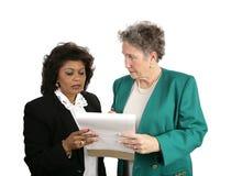 Squadra femminile di affari - interessata Fotografia Stock