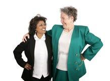 Squadra femminile di affari - successo Fotografia Stock Libera da Diritti