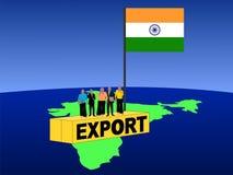 Squadra indiana sul contenitore Fotografia Stock