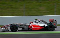Squadra McLaren - Heikki Kovalainen immagini stock libere da diritti