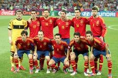 Squadra nazionale della Spagna Fotografia Stock