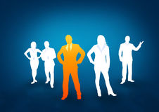 Squadra professionale di affari Immagini Stock Libere da Diritti