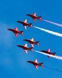 Squadra rossa della visualizzazione delle frecce Fotografie Stock