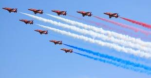 Squadra rossa della visualizzazione delle frecce Fotografia Stock