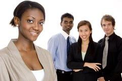 Squadra sorridente di affari Fotografie Stock