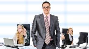 Squadra sorridente felice di affari Fotografia Stock