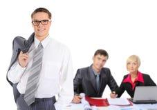 Squadra sorridente felice di affari Fotografia Stock Libera da Diritti