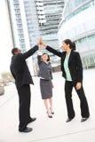 Squadra varia di affari che celebra successo Fotografia Stock