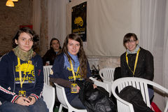 Squadra volontaria di festival di Cluj di commedia Immagine Stock Libera da Diritti