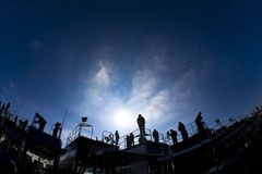Squadre Daytona 500 Fotografie Stock Libere da Diritti