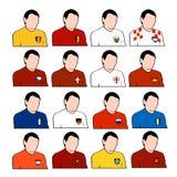 Squadre nazionali di gioco del calcio europeo Fotografie Stock Libere da Diritti