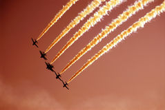 The squadron. The red arrow squadron in action Stock Photo