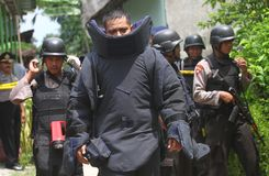 Squadrone della morte della polizia Immagini Stock Libere da Diritti