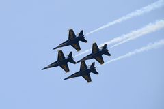 Squadrone di dimostrazione di angeli blu Fotografia Stock Libera da Diritti